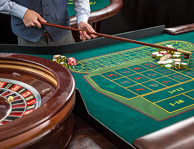 mesa de juego de la ruleta de casino versión americana