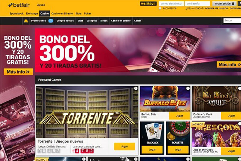 betfair casino analisis