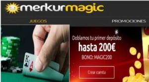 Ahora en Merkurmagic se pueden obtener 200 euros por primer depósito