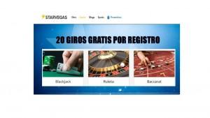 20 giros gratis en Casino Starvegas
